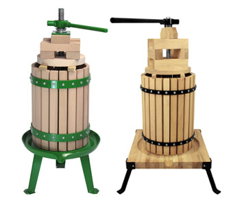 Weinpressen aus Akazienholz und Buchenholz